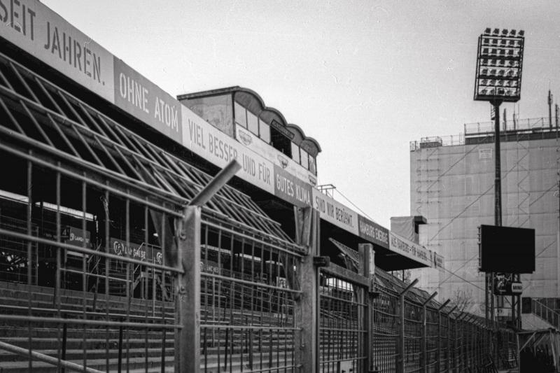 Alte Gegengerade in Richtung des Telekom-Bunkers