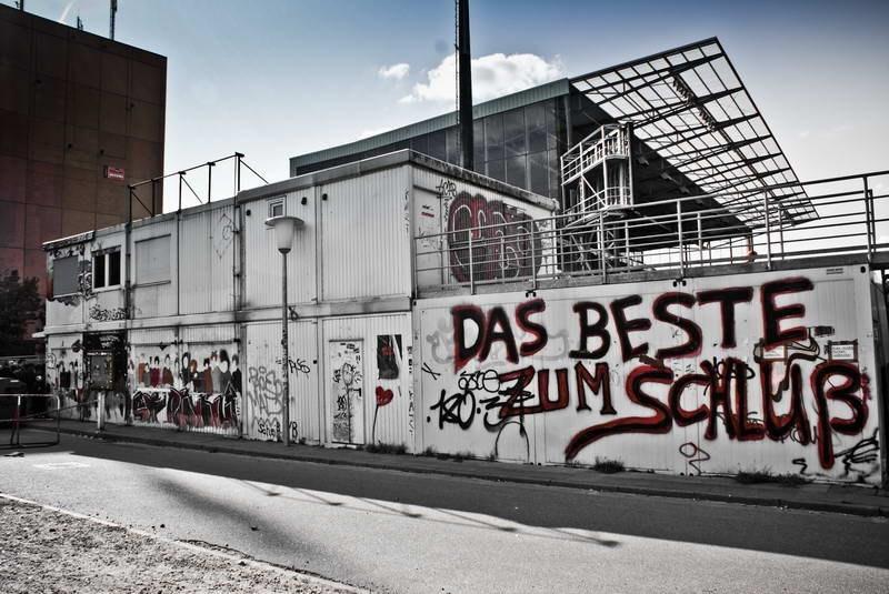 """Der alte Fanshop in den Container an der Süd - Das Beste zum Schluß"""""""