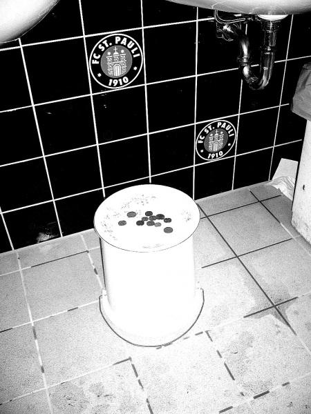 Toiletten-Trinkgeldteller in der Süd