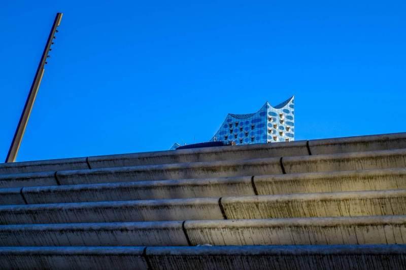 Stufen und Elbphilharmonie