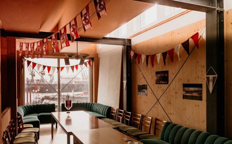 Der Clubraum im 12i - herrlich geschmückt