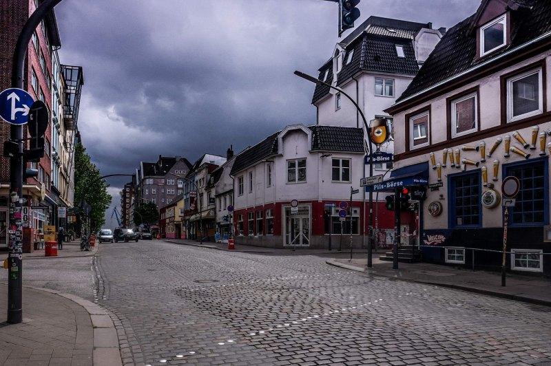 Davidstraße kurz vor dem Gewitter